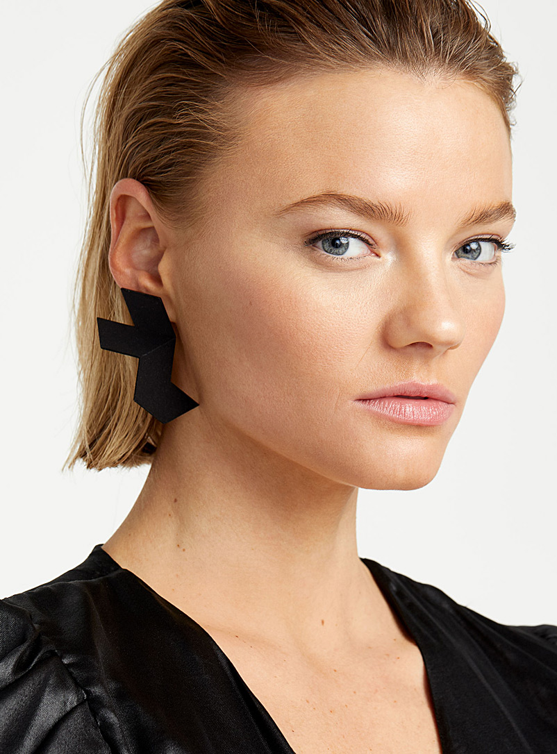 Design + Conquer Black Paralysist earrings