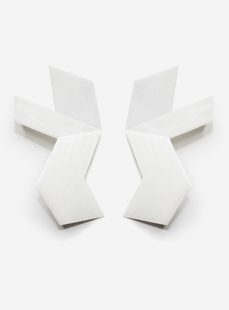 Design + Conquer White Paralysist earrings