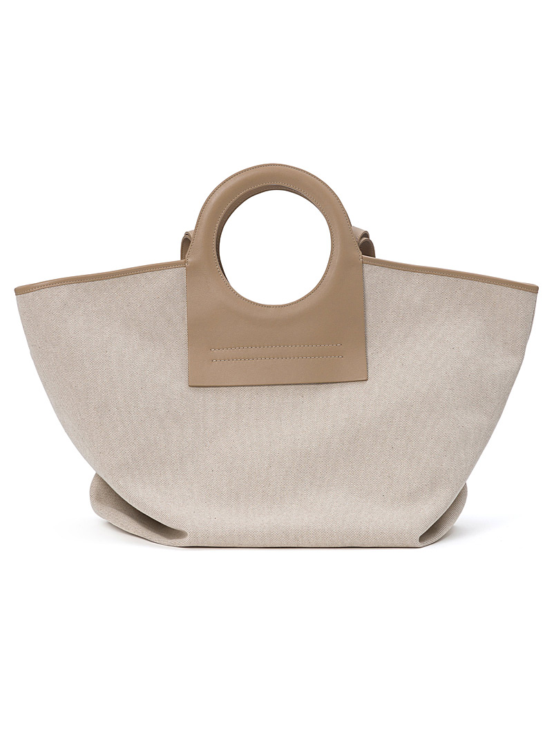 Hereu Light Brown Cala large tote for women