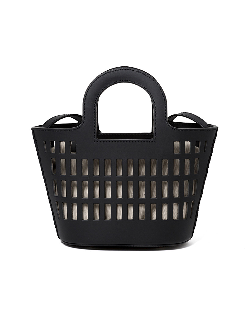 Hereu Black Colmado Mini basket bag for women
