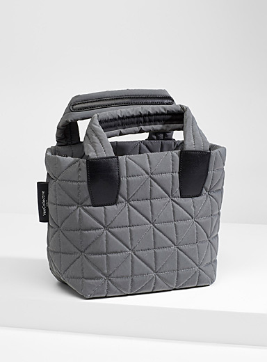 Vee small quilted tote
