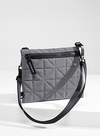 VeeCollective Grey  Protective quilted shoulder bag for women