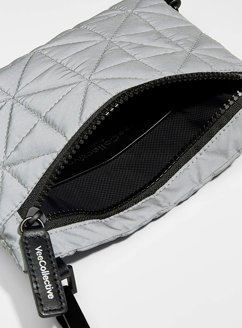VeeCollective Black  Protective quilted shoulder bag for women