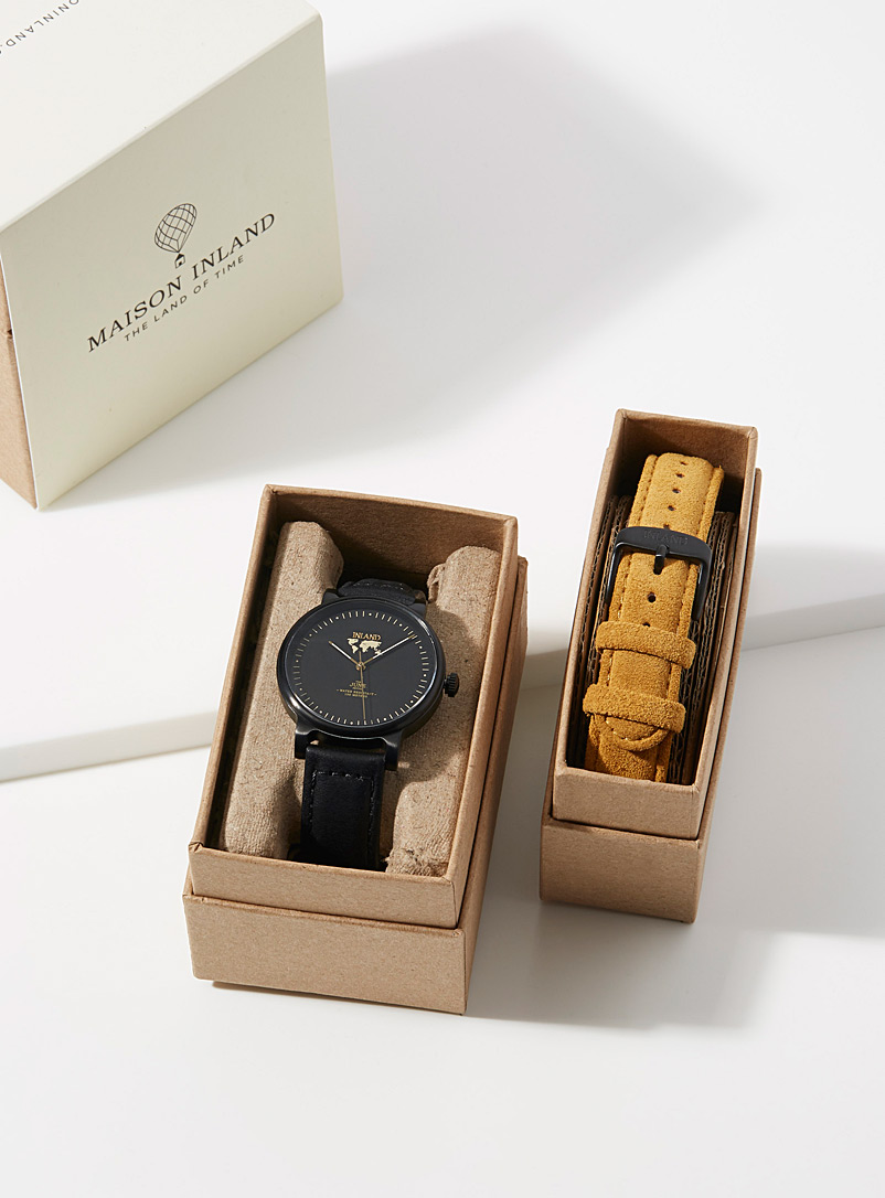 Maison Inland Black The June Petite watch for men