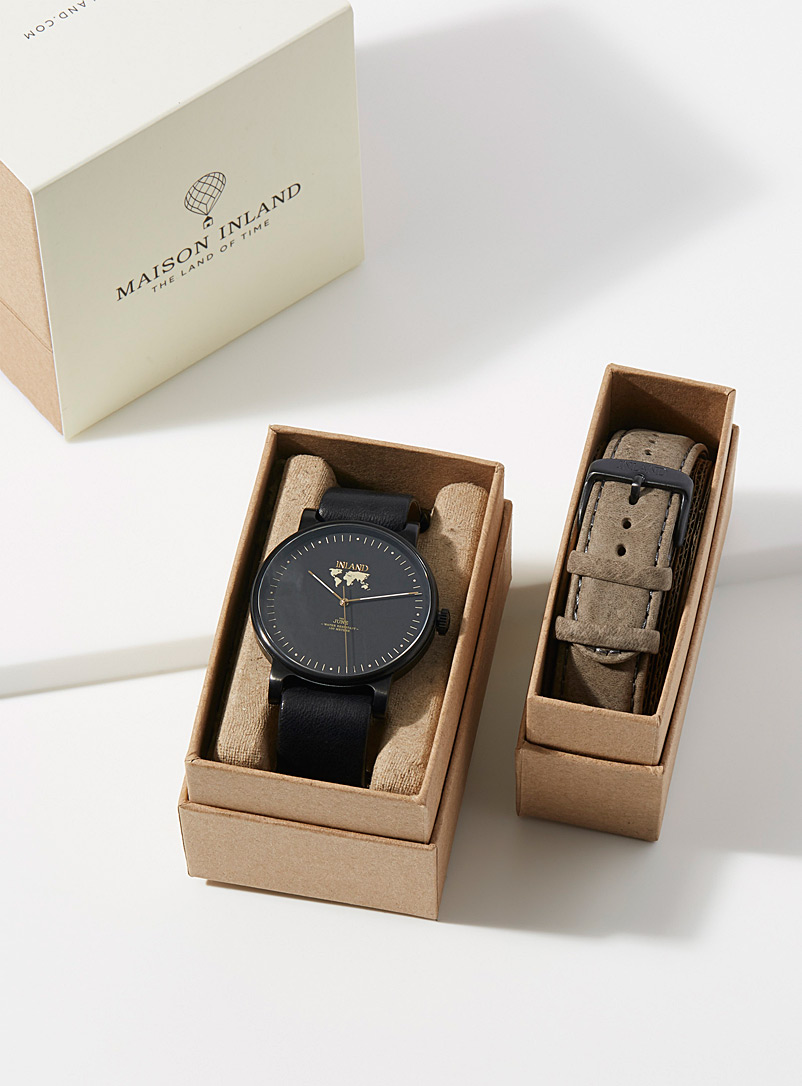 Maison Inland Black The June black watch for women