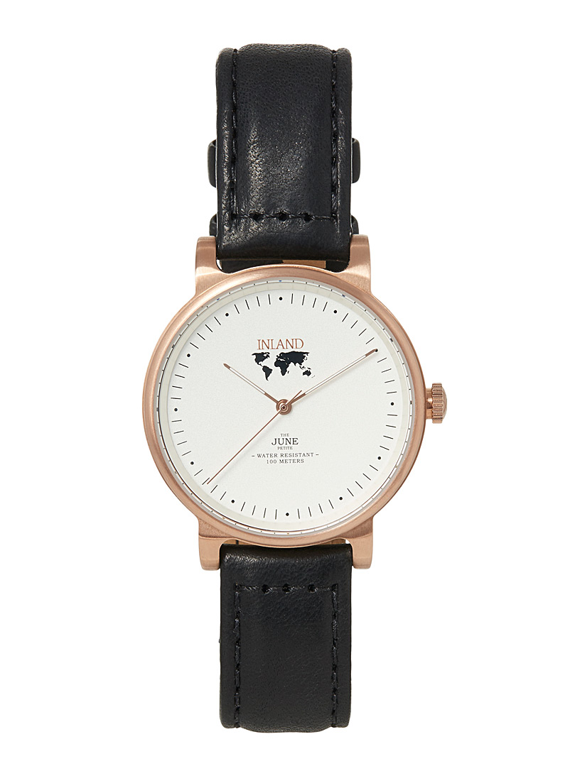 June small rose gold watch - Canadian Brands - Assorted black