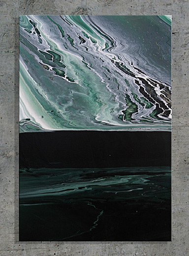 Enjoy Artwork Teal Panel 1 abstract painting