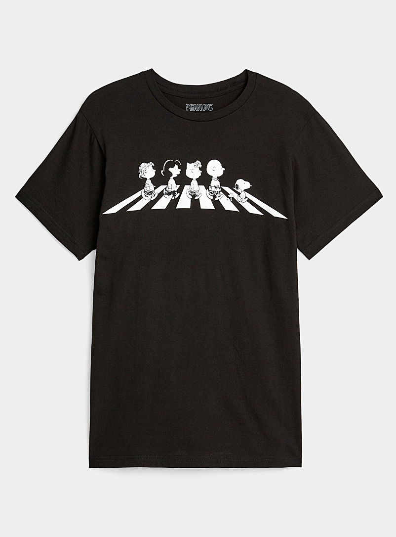 Twik Black Charlie Brown Abbey Road tee for women