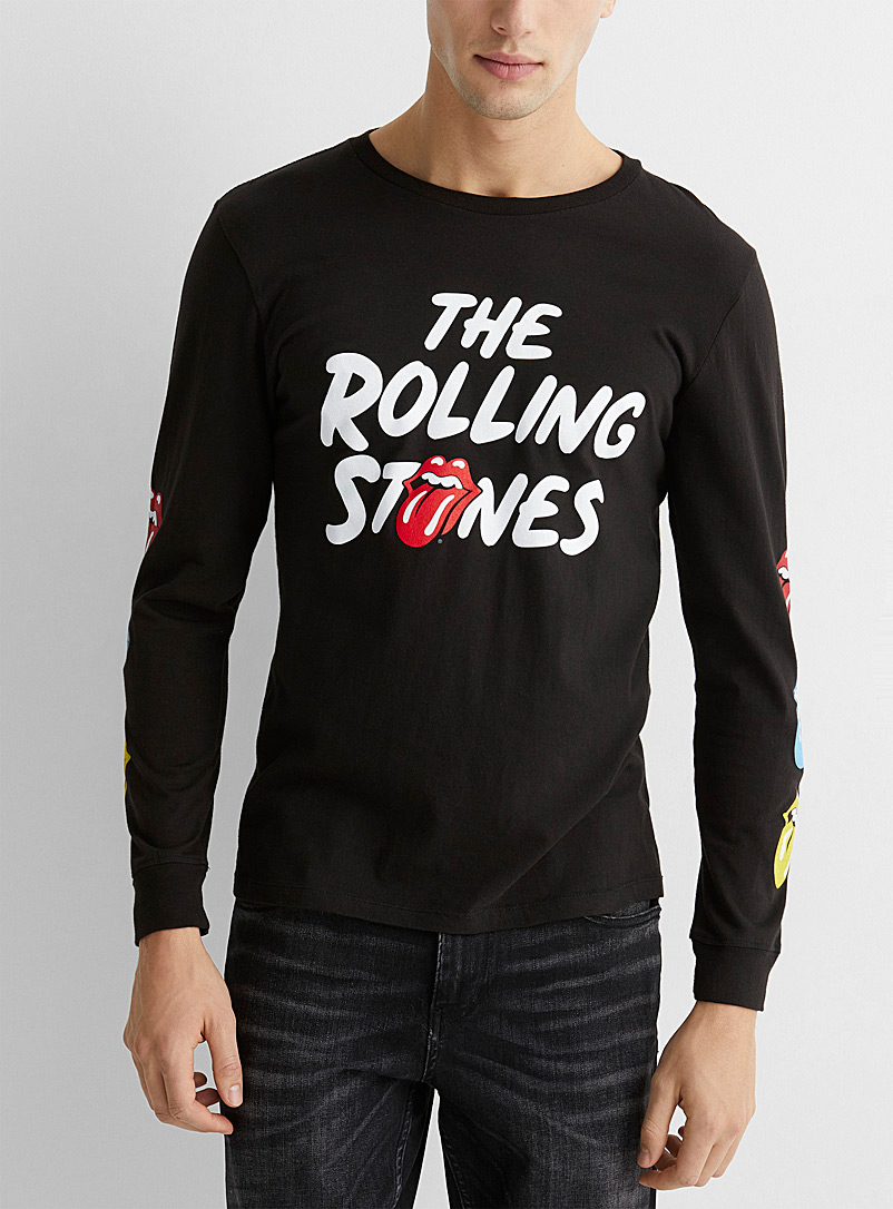Le 31 Black Rolling Stones T-shirt for men