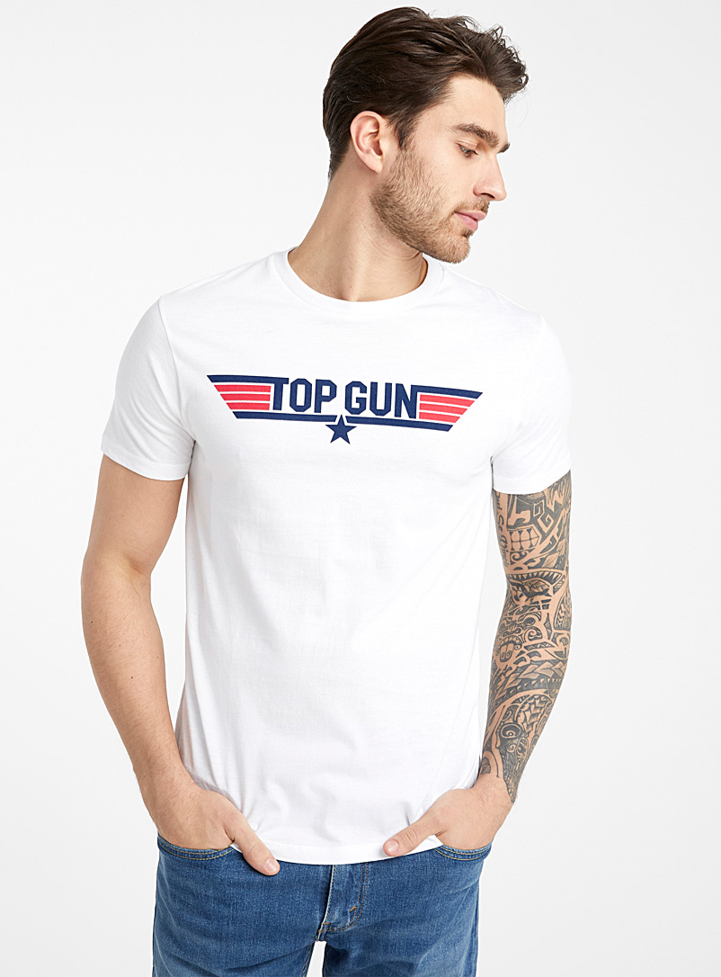 Le 31 White Top Gun T-shirt for men