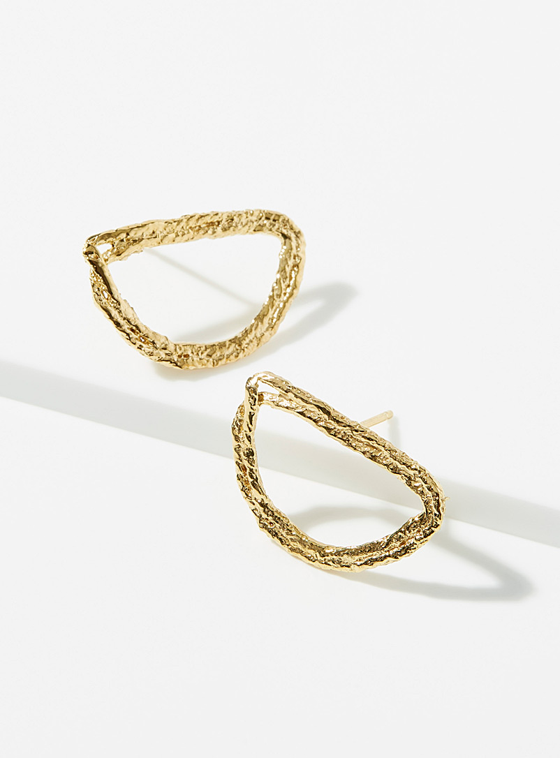 Half-moon hoop earrings