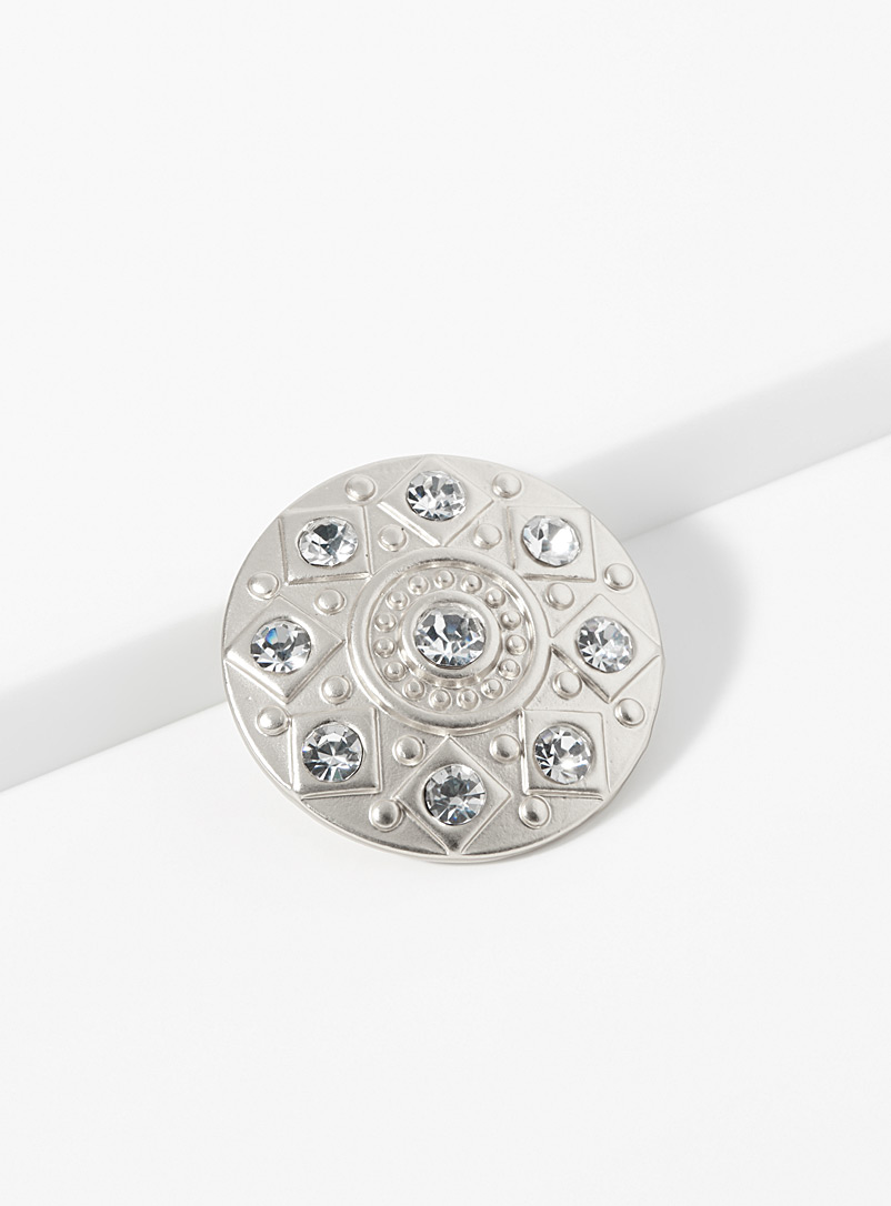 Simons Assorted Crystal magnetic brooch for women