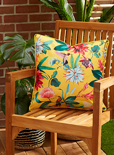 Tropical garden outdoor cushion 45 x 45 cm