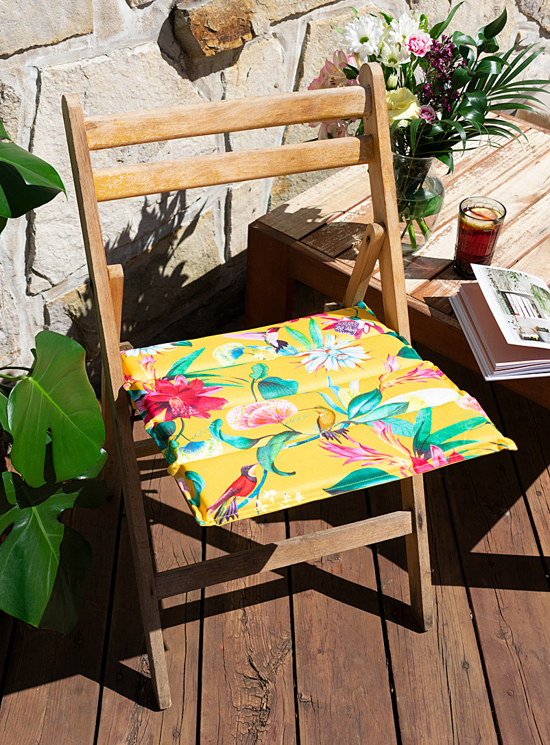 Simons Maison Assorted Tropical garden reversible outdoor chairpad  40 x 40 cm
