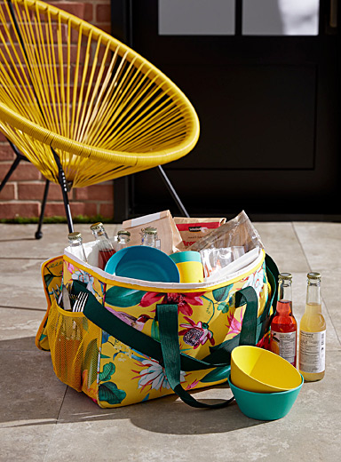Large tropical garden lunch bag