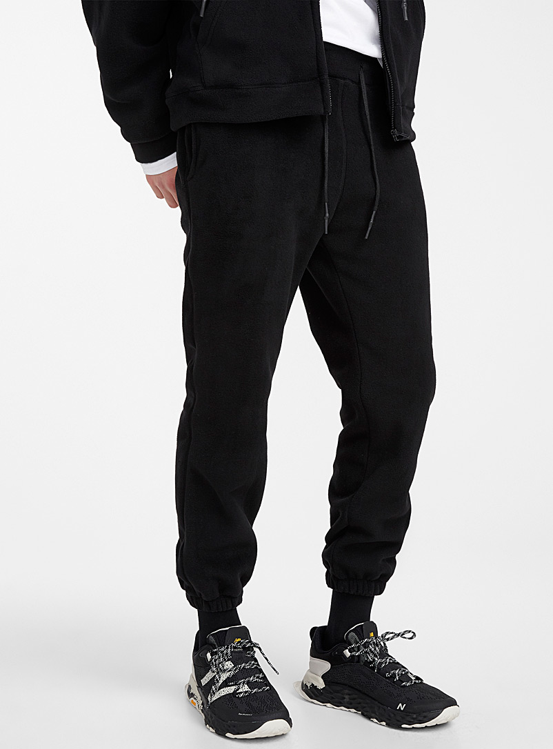Polar fleece joggers - Joggers - Black