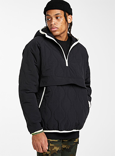Quilted anorak hoodie
