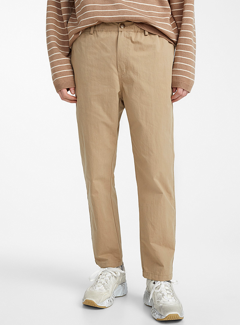 Stretch waist pant - Straight fit - Light Brown