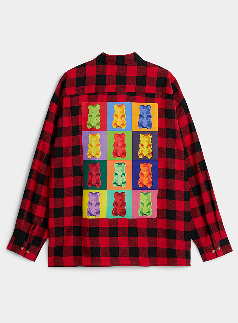 Gelatin teddy bear hunter shirt