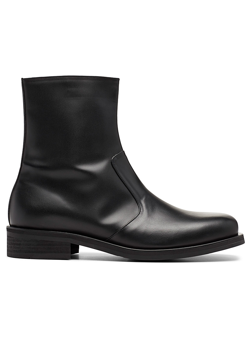 The Last Black Square-toe ankle boots for men