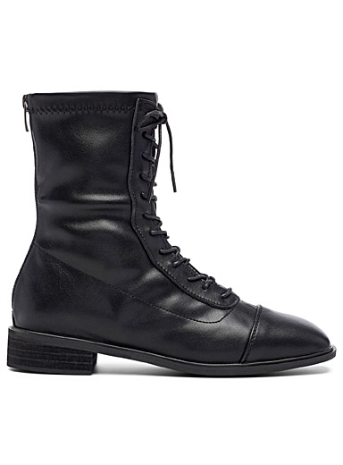 Lace-up mid-length boots