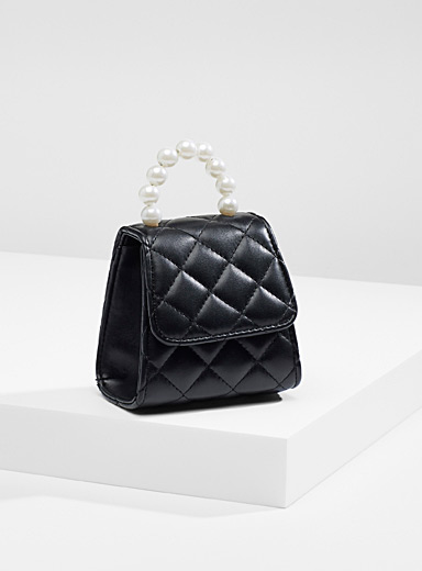 Quilted ladylike mini bag