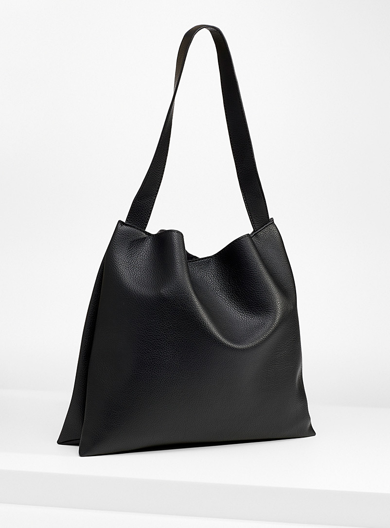 Simons Black Ultra soft monochrome tote for women