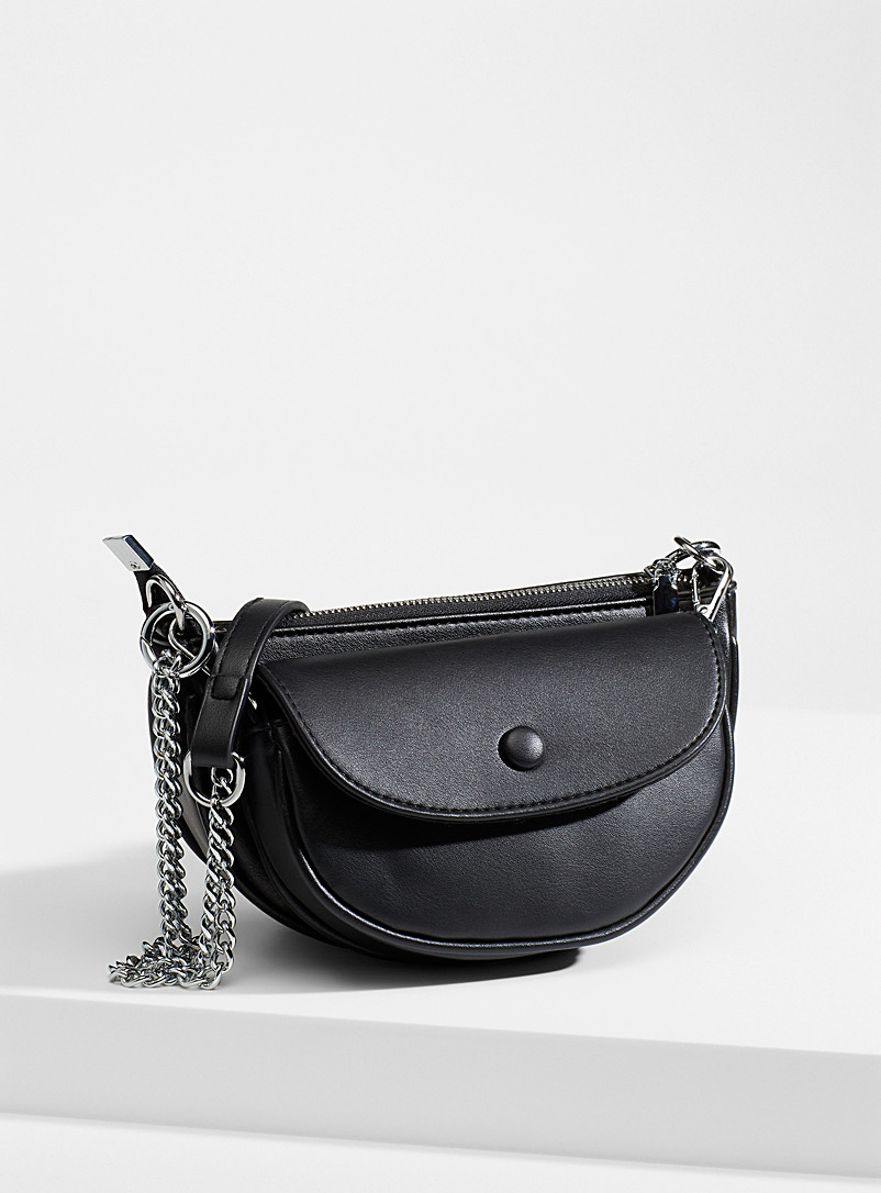 Simons Black Chain double bag for women