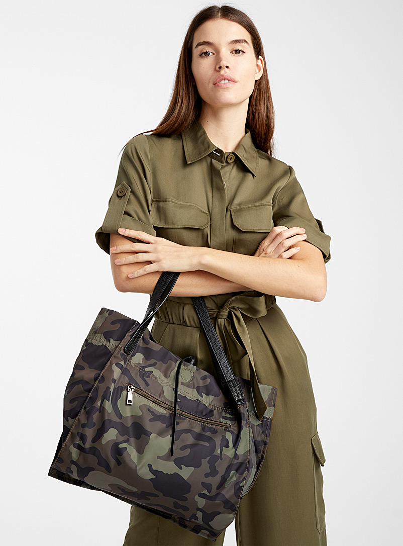 Tactical nylon tote - Tote Bags - Green