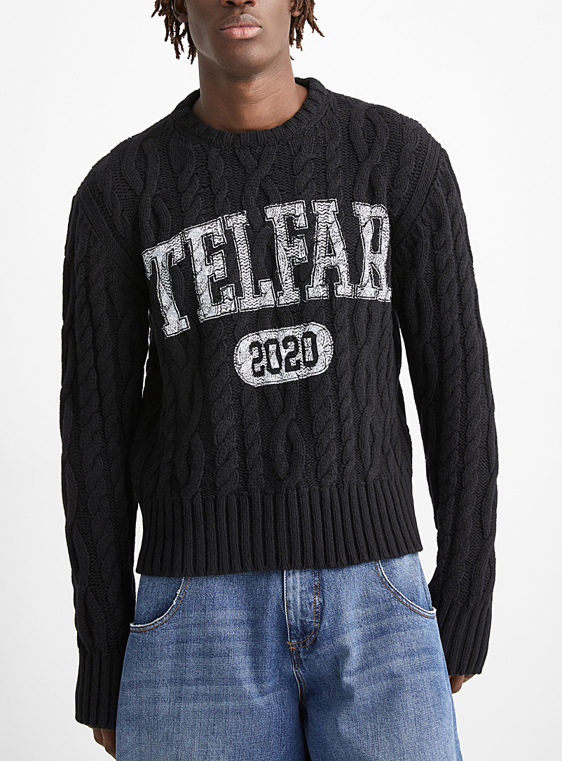 Cable logo sweater