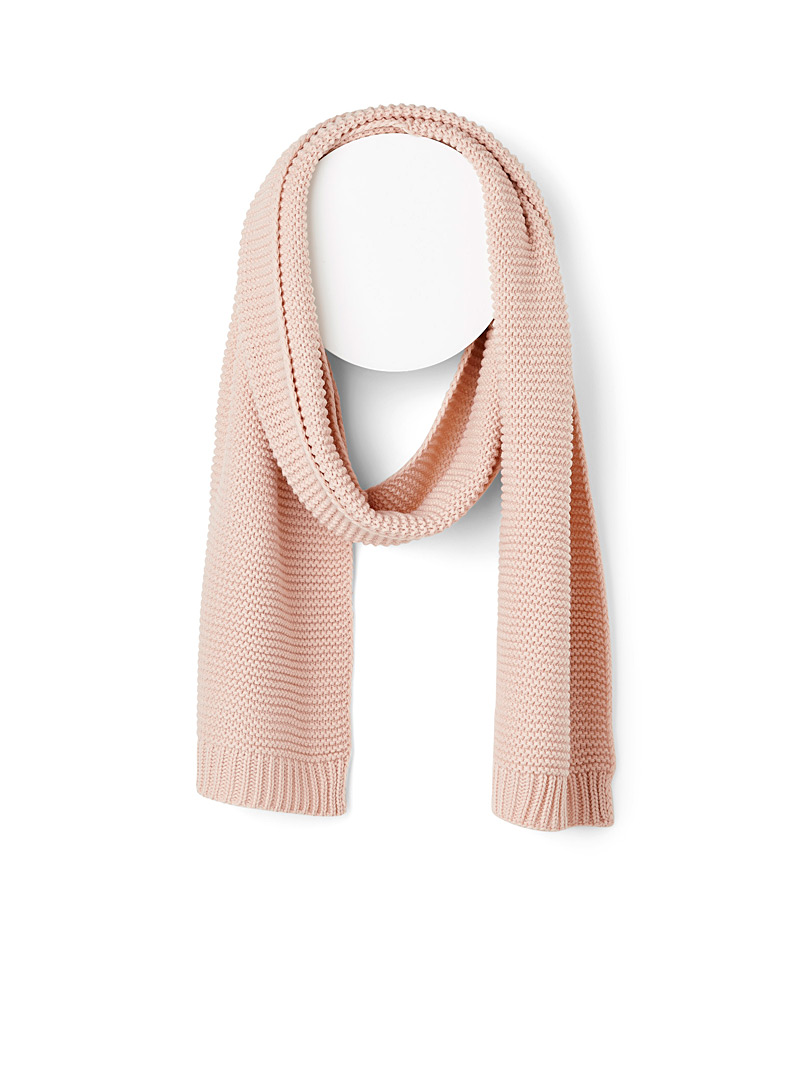 Cozy nest knit scarf - Winter Scarves - Pink