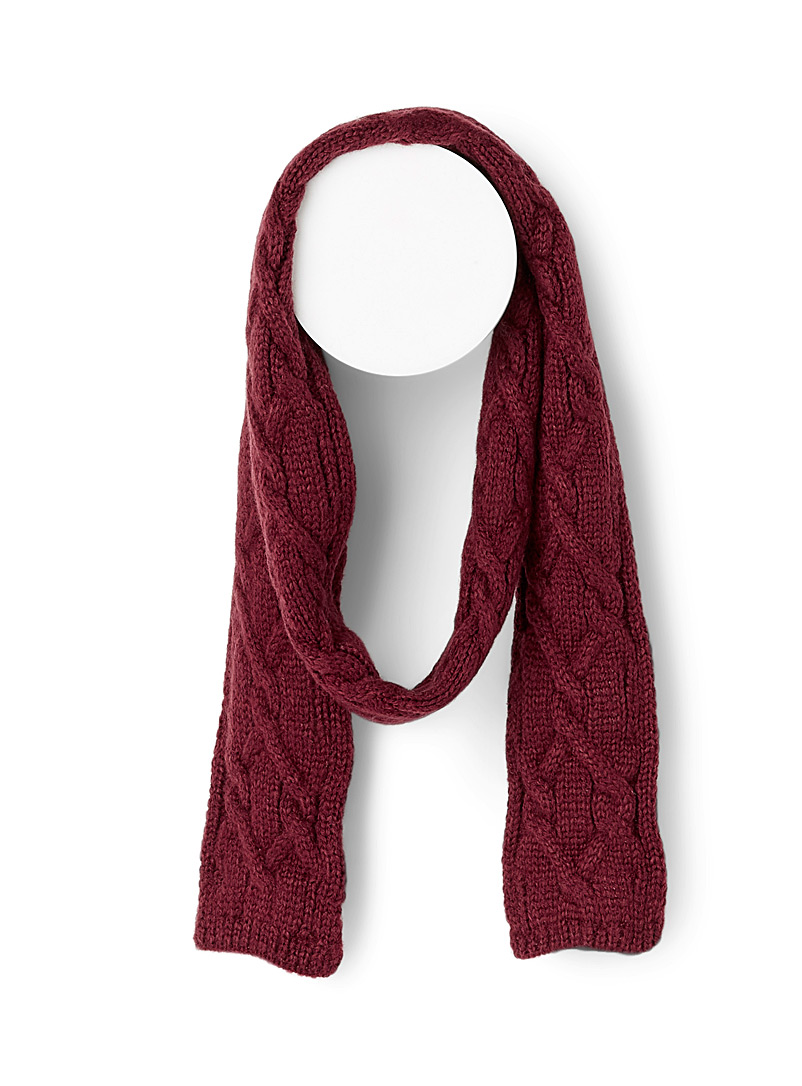 Fine textured knit scarf - Winter Scarves - Ruby Red