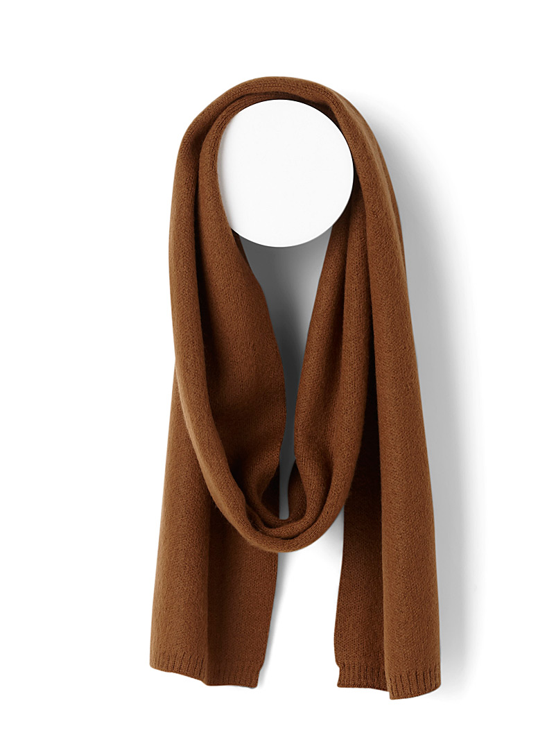 Solid fluffy scarf - Winter Scarves - Honey