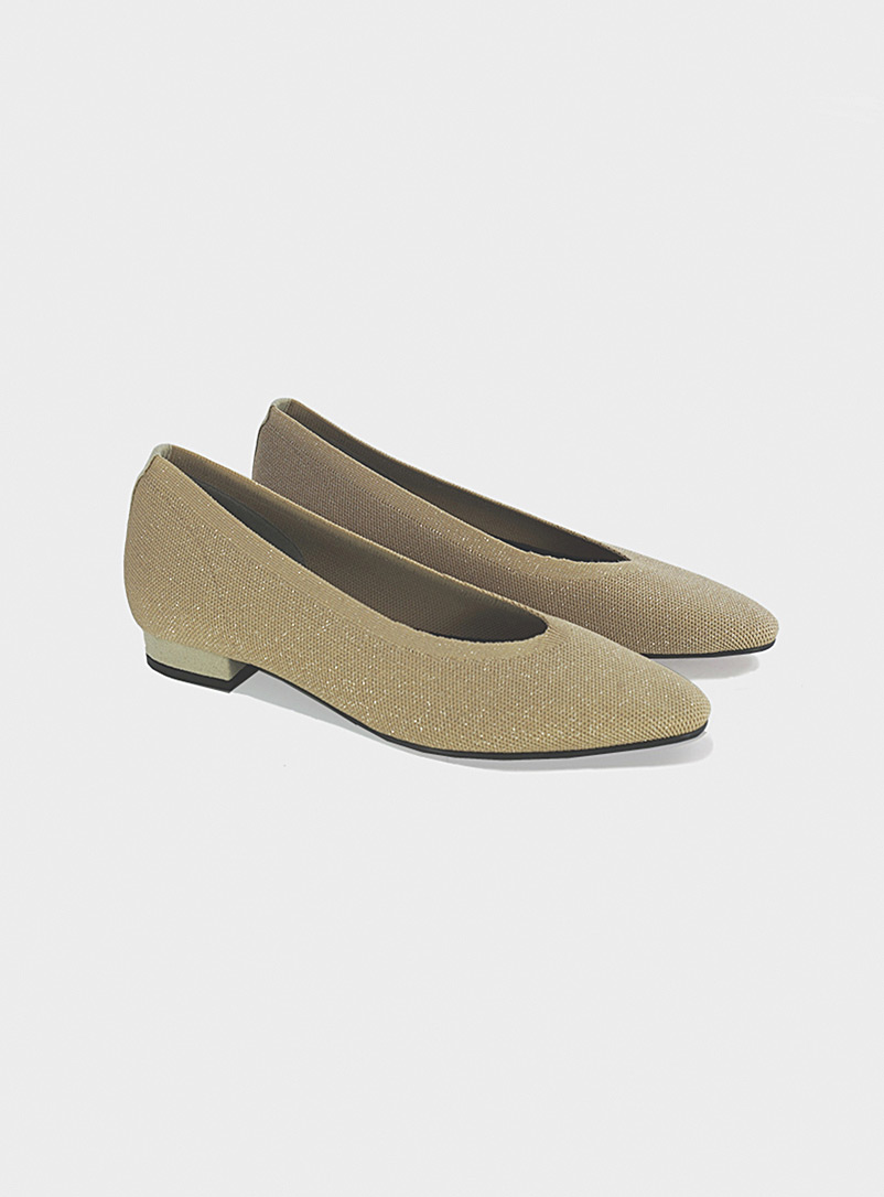 Seven All Around Pearly Small heel knit ballet flats for women