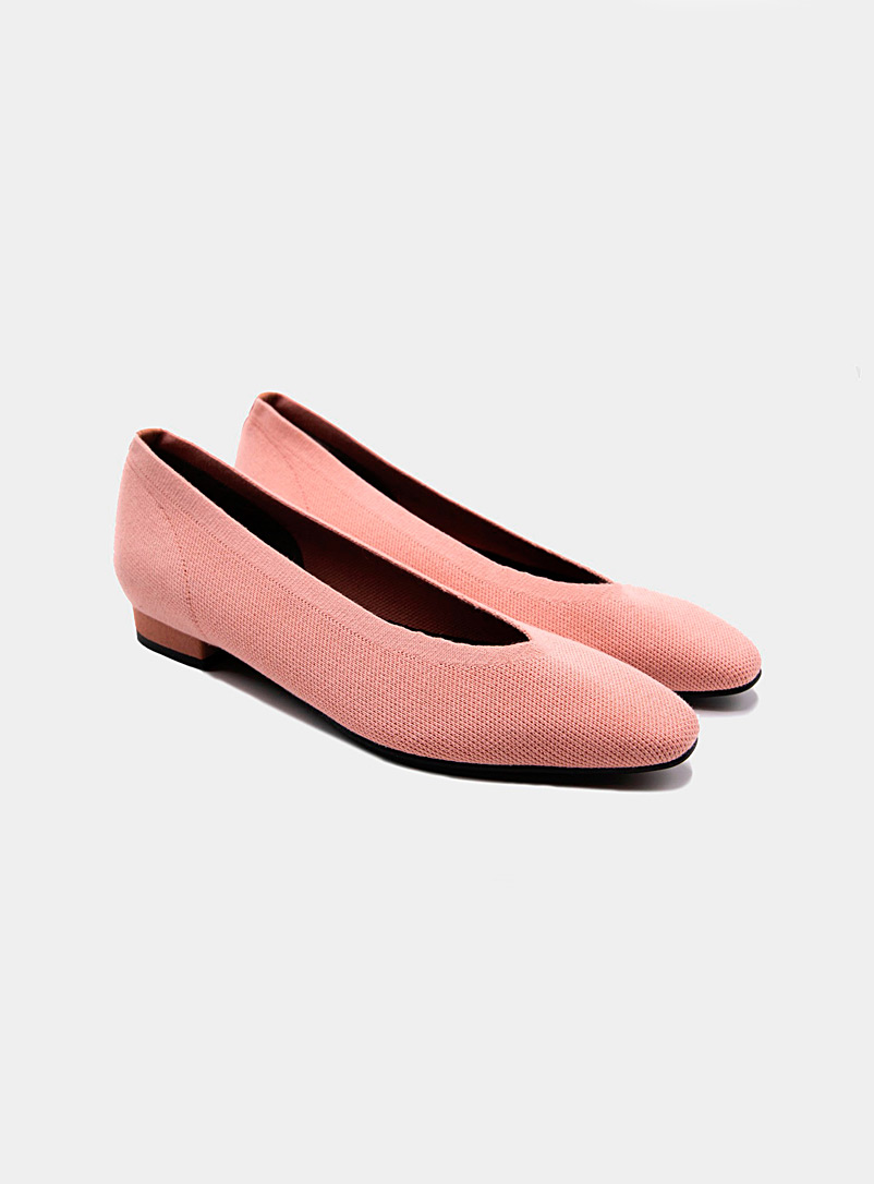 Seven All Around Dusky Pink Small heel knit ballet flats for women