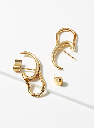 Twinkler medium hoop earrings