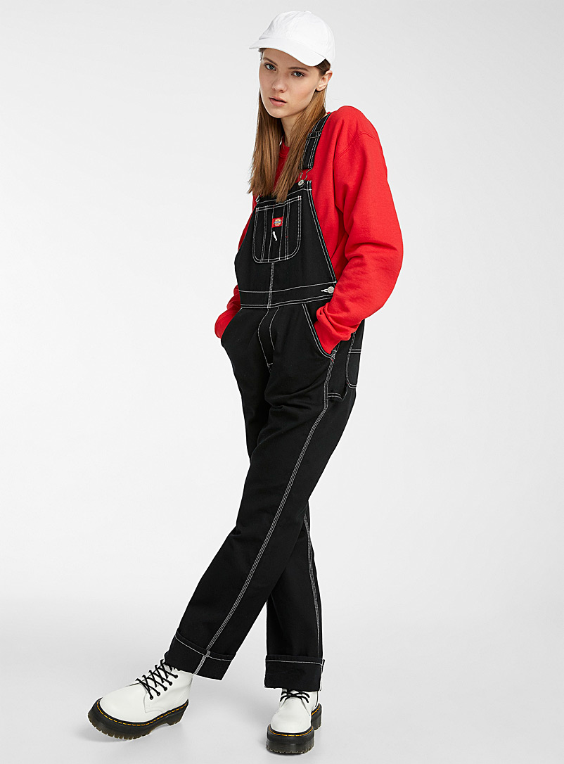 Dickies Black Contrast seam overalls for women