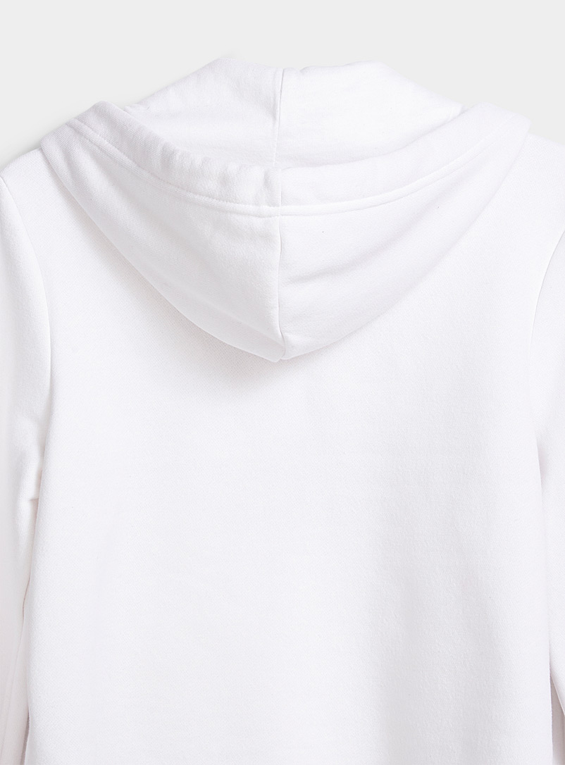 Dickies White Ultra cropped logo hoodie for women