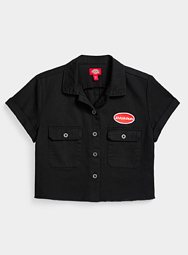 Dickies Black Accent patch cropped shirt for women