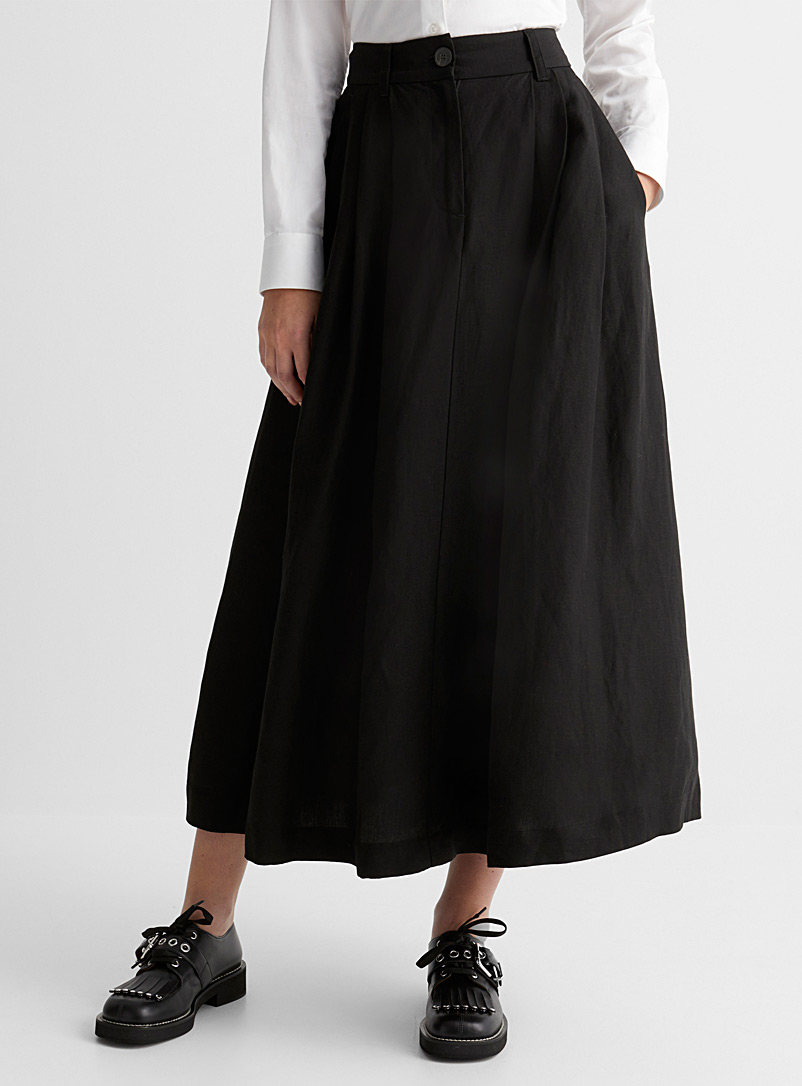 Mara Hoffman Black Tulay midi skirt for women