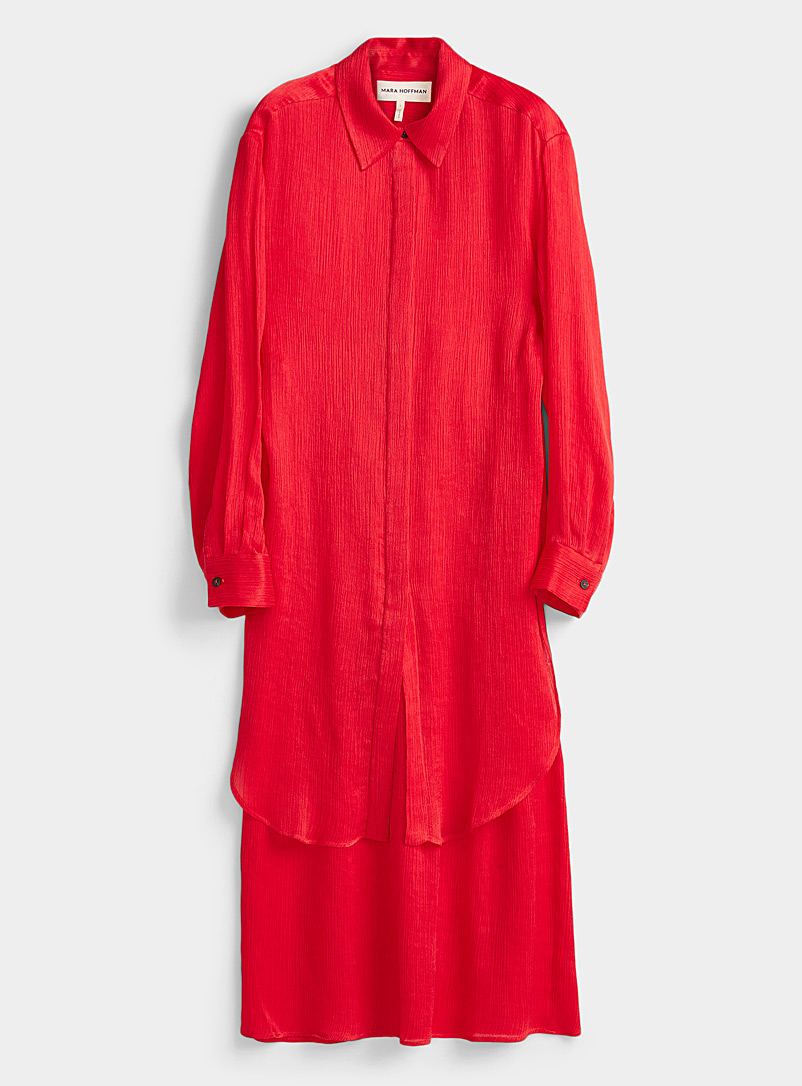 Mara Hoffman Red Agata TENCEL* lyocell dress for women