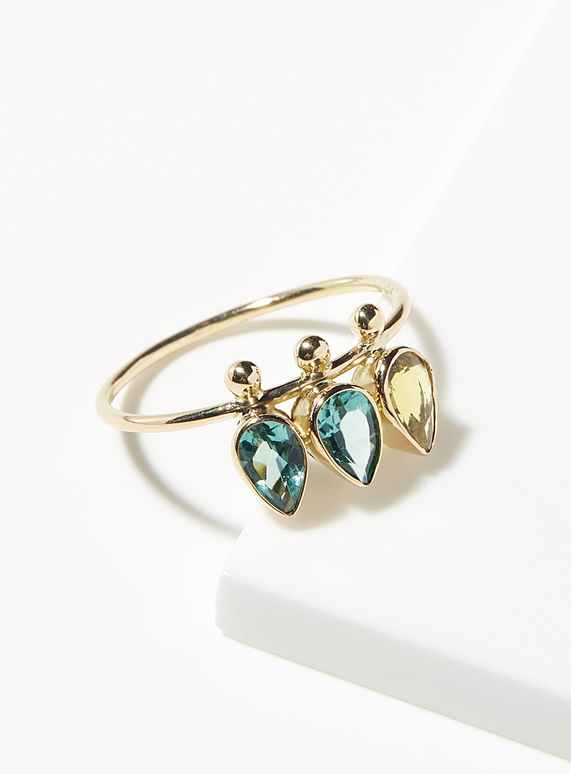 Ab?s Assorted Ja?a three stone ring for women