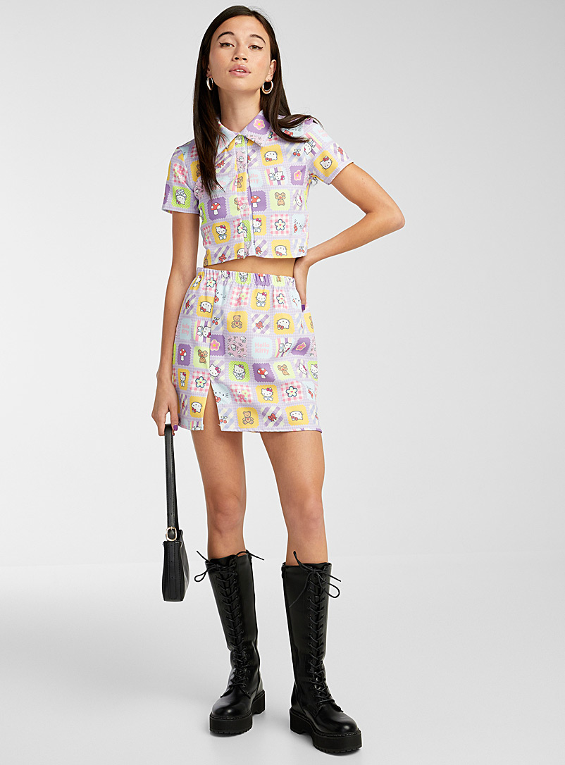 New Girl Order Assorted Hello Kitty cropped pastel shirt for women