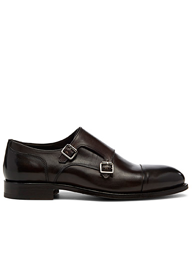 Simons Brown Espresso leather monk shoes  Men for men
