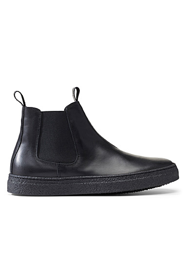 OA non-fashion Black Chelsea Circle boots  Men for men