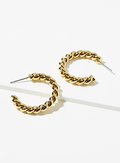 Sugar Blossom Gold Merel hoops for women