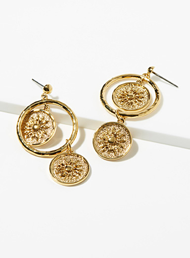 Sugar Blossom Gold Soleil earrings for women