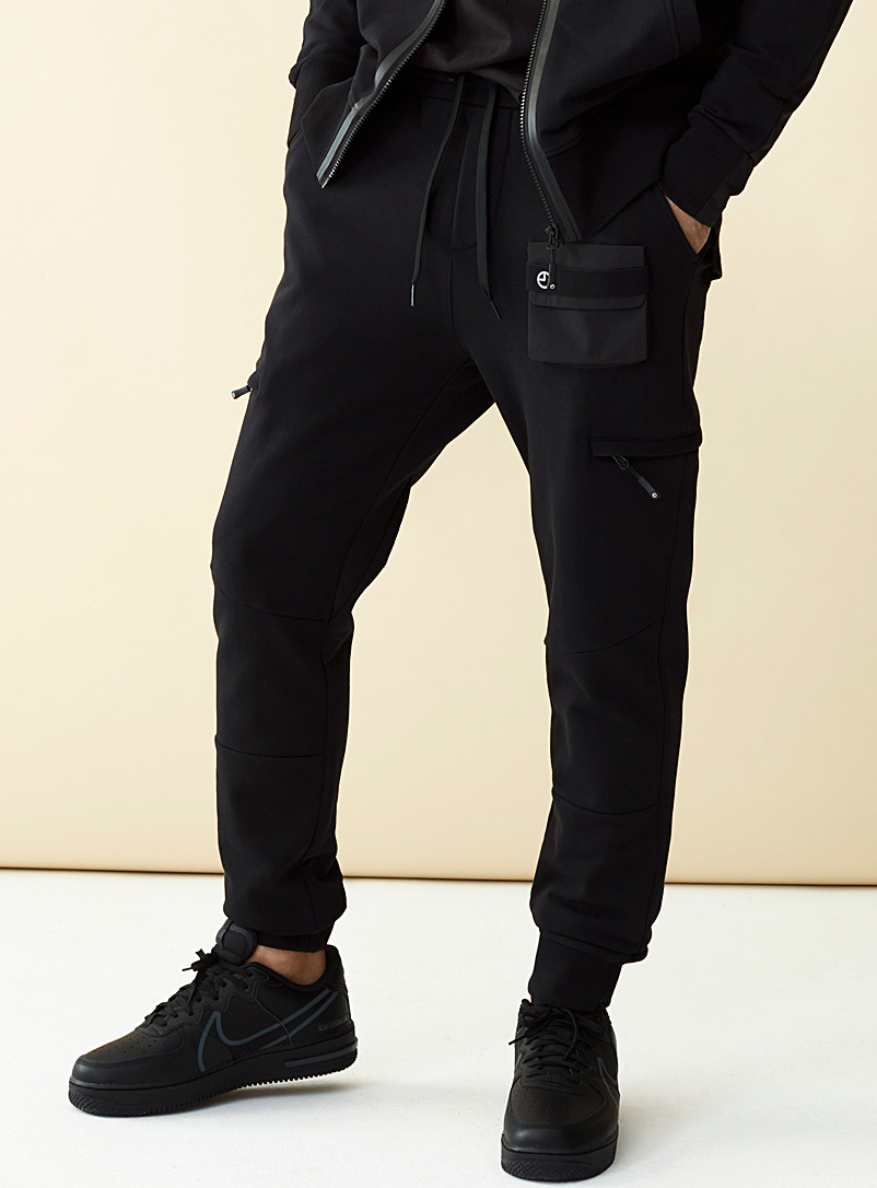 9PM Black Performance joggers for men