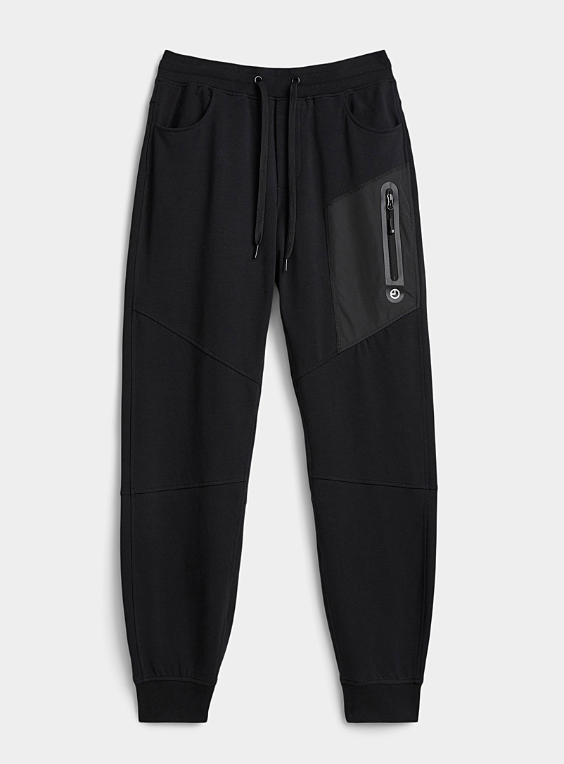 9PM Black Ergonomic sweatpant for men