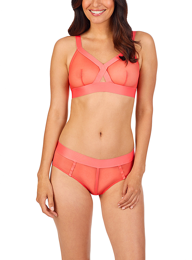 DKNY Coral Sheer mesh triangle bralette for women